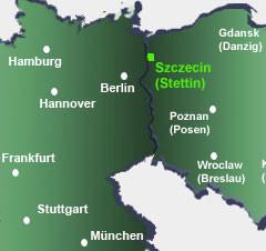 Stettin liegt 12 km von der deutsch-polnische